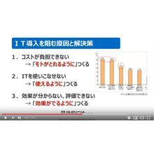 <動画で解説 2>中小企業におけるIT活用の現状と課題 ~働き方改革実現の鍵はITシステムにあり~