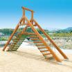 木製遊具 山型橋 W-204 製品画像
