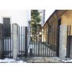 【門扉】デザイン性の高い門扉と袖フェンス【施工事例】 製品画像