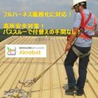 屋上設置 エアコン フロンガス点検時の転落防止に!アクロバット! 製品画像