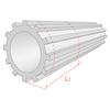 高純度セラミックス素材による小型平歯車 製品画像