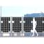 両面受光型太陽光パネル採用 『ライトスルーソーラーフェンス』 製品画像