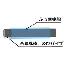 【高耐久・耐薬・剥がれ難い】金属丸棒外周 ふっ素樹脂被覆施工 J 製品画像
