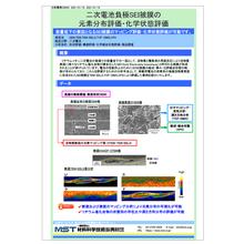 【資料】二次電池負極SEI被膜の元素分布評価・化学状態評価 製品画像