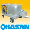 ■小規模半たわみ舗装工事用セメントミルク製造エンジンミキサー 製品画像
