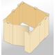 段ボール製組み立て式パーテーション『ハコデルーム』 製品画像