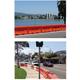 道路工事の安全対策に! 仮設規制材ウォーター・ケーブル・バリアー 製品画像