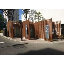 【EINスーパーウッド施工例】東京都内 公衆トイレ化粧ルーバー 製品画像