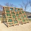 木製遊具 ジグザグ越え W-207 製品画像
