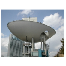 【FRP製品の納入・作成事例】エレベーター塔ドーム型スクリーン 製品画像