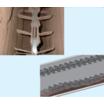 搬送の際の付着・居着きを低減!ブロックチェーンの特型仕様 製品画像