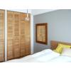 空間をデザインする収納扉『木製パインルーバー折れ戸』 製品画像