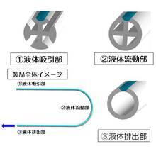 シリコーン素材の押出成形技術『断面変化チューブ』 製品画像