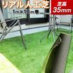 天然芝そっくりのクオリティ『リアル人工芝』芝高35mm 製品画像