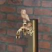 福を呼ぶ!動物ハンドルのガーデン用二口万能胴長水栓(フクロウ) 製品画像