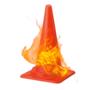 車で踏んでも割れない!火が燃え広がらない!『難燃コーン』 製品画像