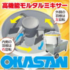 ■インバーター変速モルタルミキサー■ダブルアームミキサーSTW 製品画像