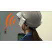 耳元でキケンをお知らせ!ヘルメットに取付「小型警報機能付きタグ」 製品画像