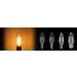 シャンデリア型で電球⾊のPSE・調光対応フィラメントLEDランプ 製品画像