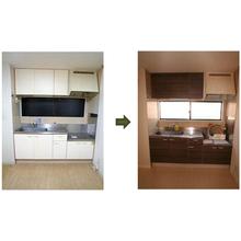 【施工事例】キッチン扉シート張替え 製品画像