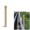 景観製品「木製デリネーター」 製品画像