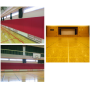 【施工実績例】体育館壁面安全クッション・コートライン書替 製品画像