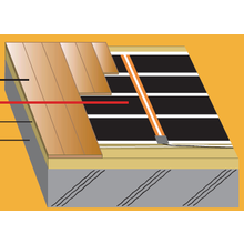 下地スラブ用 接着剤で施工できる電気式床暖房 製品画像