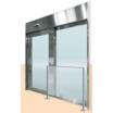 ステンレス製自動ドア『ファイヤードSオートドア 避難用開口付き』 製品画像