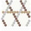 セラミックタイル『HEXAGON - デザインパターン』 製品画像