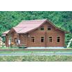 【木製】管理棟(ログ、在来)【キャンプ場、スキー場、駐車場など】 製品画像