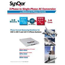 SynQor 防衛用艦艇・航空機向け『三相→単相 電力変換装置』 製品画像