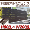 ブロック塀に設置『H800フェンス ナチュラルウッド(ダーク)』 製品画像
