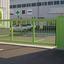 重要なエリアへの強行侵入車両を防止「電動門扉」 製品画像