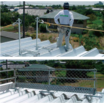 折板屋根墜落防止対策「折板屋根用親綱支柱」 製品画像