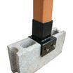 角ポール固定金具・ブロック用/ラティス・フェンス用金具 製品画像