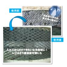 タブレット型防除剤で空調設備・食品工場などの冷却水を清潔に! 製品画像