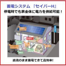 【蓄電システム】停電時でも家全体に電力を供給可能! ※長期保証有 製品画像