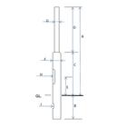 街路灯用 照明ポール『丸形鋼管段付ポール(埋込み式)』 製品画像