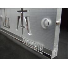浮き文字石英ガラス表札 製品画像