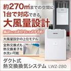ダクト式熱交換換気システムの上位モデル『LWZ-280』 製品画像