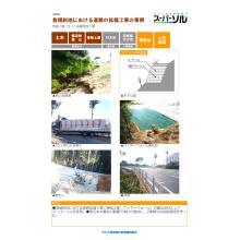 【スーパーソル施工事例】A2 急傾斜地の道路拡幅工事の事例 茨城 製品画像