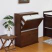 ダストボックス『薄型木製分別ダストボックス』 製品画像