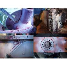 プレス機設備亀裂補修実績 クラウン スライド アプライト 破損 製品画像
