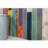 色数豊富な壁用の「カラー杉板」。浮造りと焼き杉の2種類をご用意。 製品画像