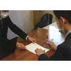 飛沫感染予防簡易パーティション(アクリル透明) 製品画像
