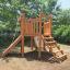 木製遊具 六角砦 W-820 製品画像