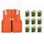 【水害対策ライフジャケット】 呼気膨脹タイプ・固形タイプ 製品画像