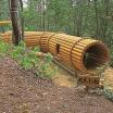 木製遊具 丸太トンネル W-107 製品画像