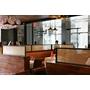 「メタルメッシュパネル」の装飾パーテーション施工事例 製品画像