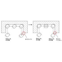 【金属加工改善事例】バリ取り工程の必要のない加工方法 製品画像